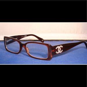 Women's Brown Chanel Eyeglass Frames